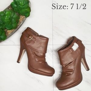 Madden Girl Friisco Cognac Ankle Boots NWT